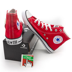 фото Кеды Converse all star высокие красные