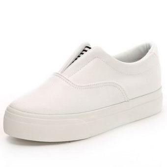 фото main Женские белые низкие кожаные кеды RenBen 8266-2 main