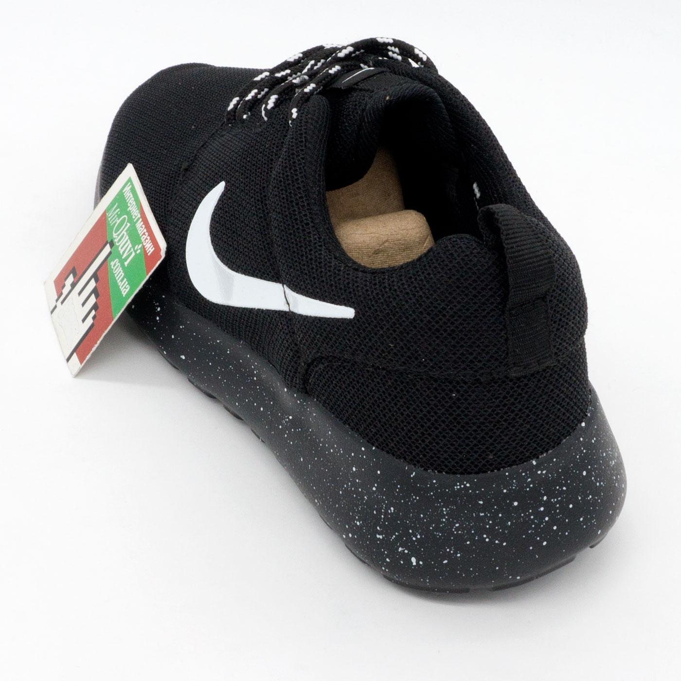 фото back Nike Roshe Run полностью черные в крапинку. Топ качество!!! back
