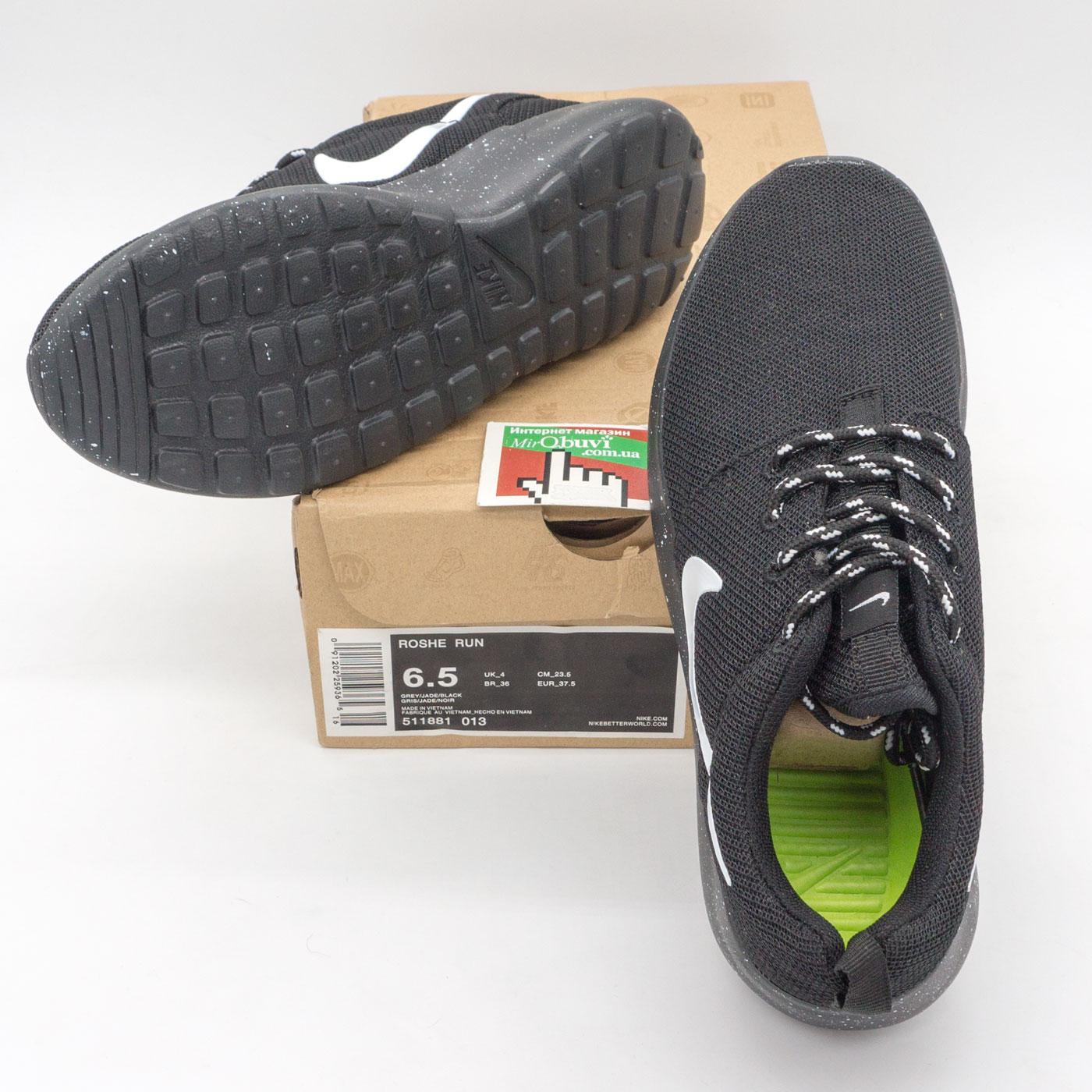 фото bottom Nike Roshe Run полностью черные в крапинку. Топ качество!!! bottom