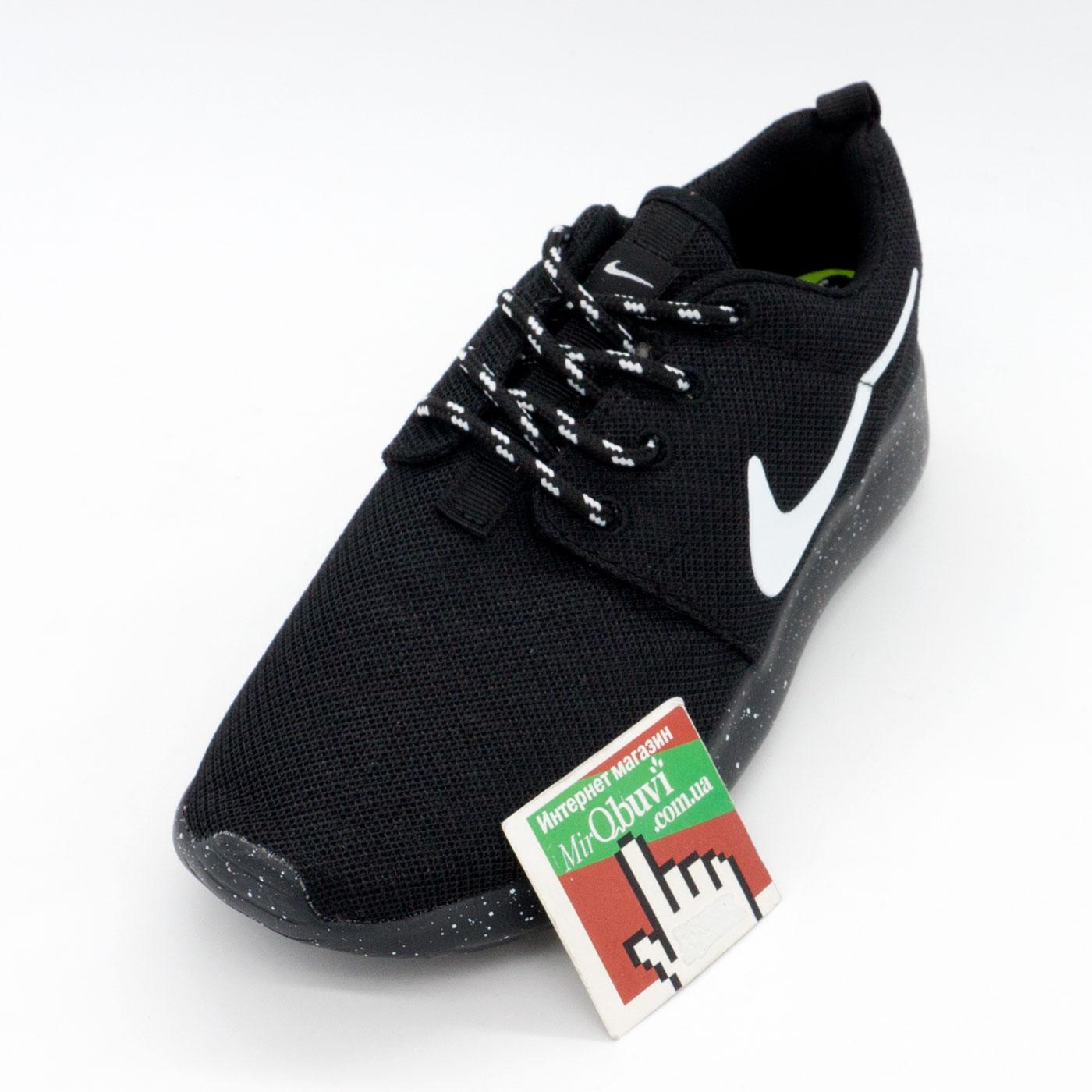 фото front Nike Roshe Run полностью черные в крапинку. Топ качество!!! front