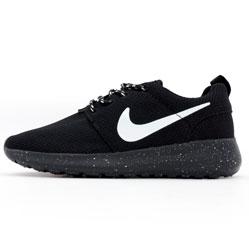 Женские кроссовки Nike Roshe Run полностью черные в крапинку. Топ качество!!!