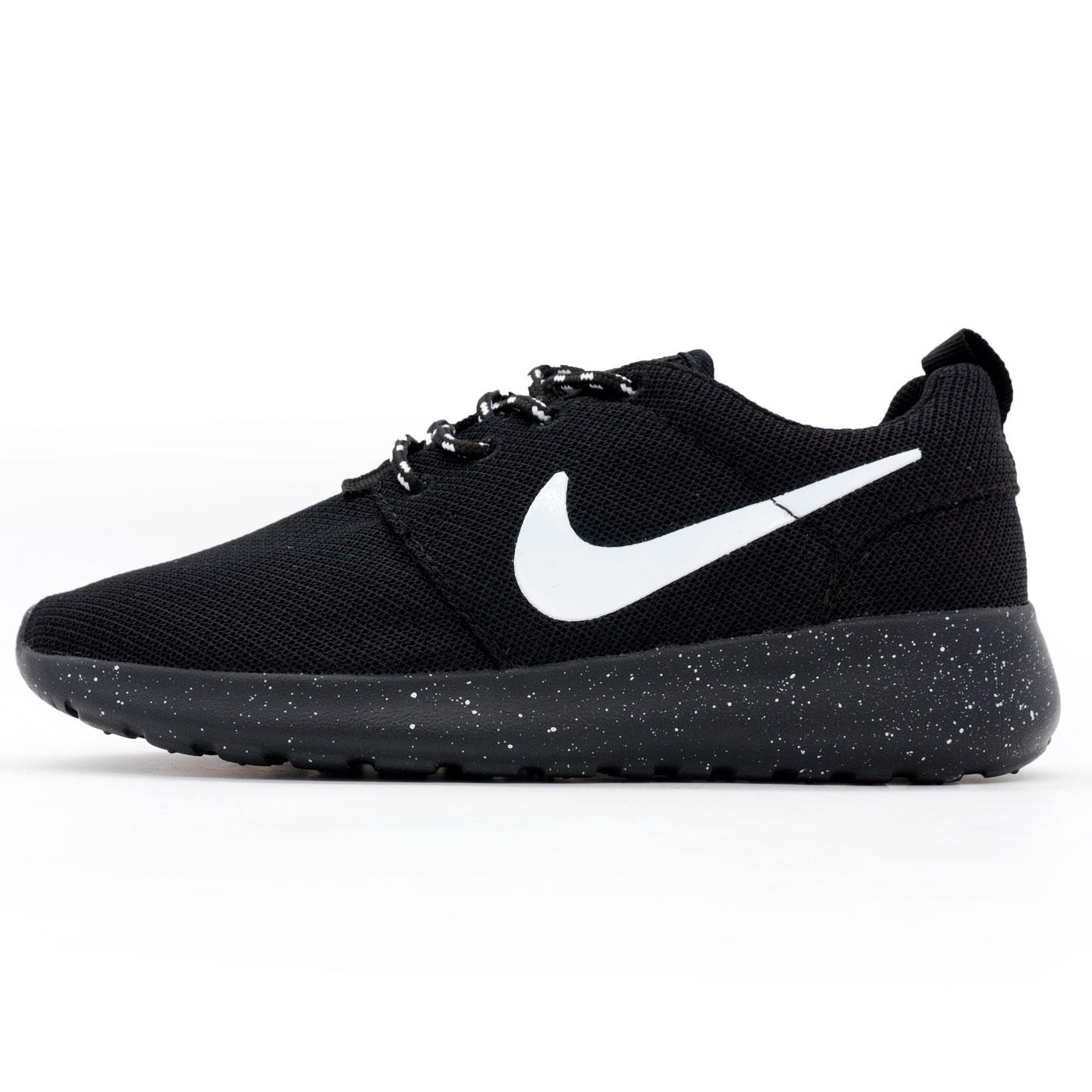 фото main Nike Roshe Run полностью черные в крапинку. Топ качество!!! main