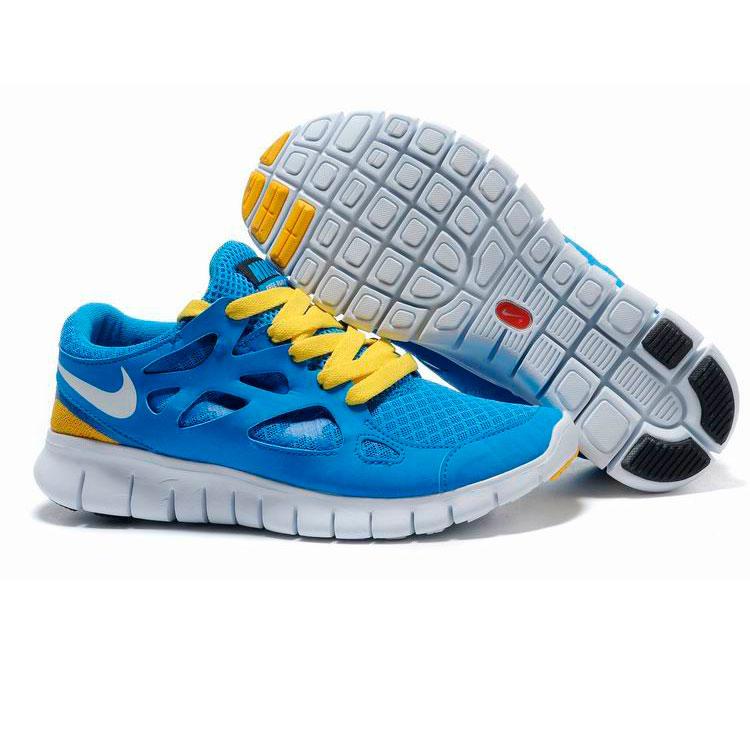 фото back Женские кроссовкидля бега Nike Free Run 2 Найк Фри Ран, сине-желтые back