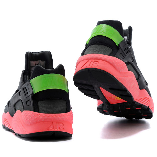фото back Nike Huarache 318429 black-red-green back