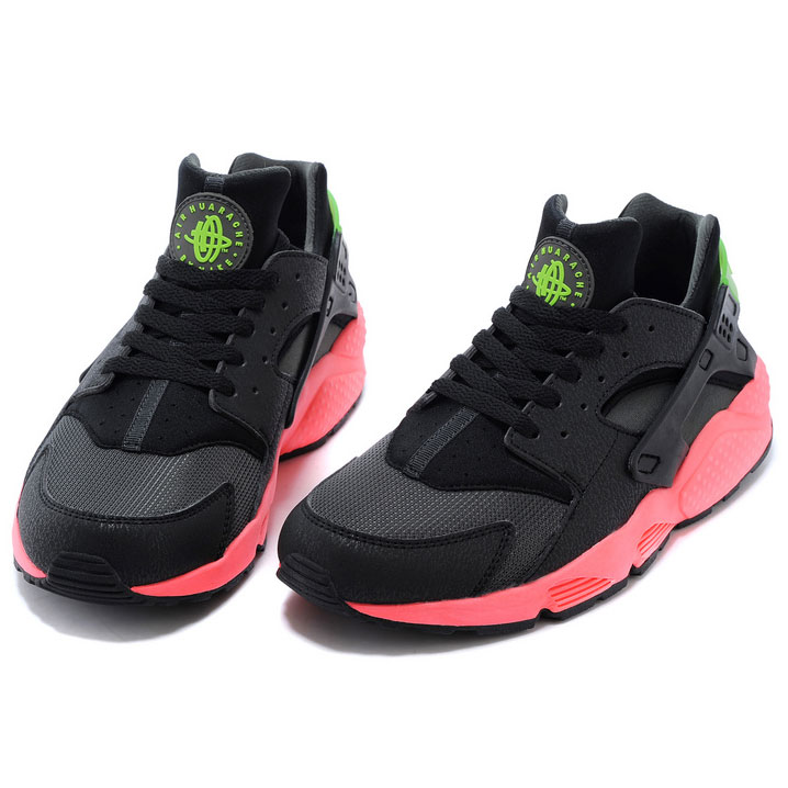 фото bottom Nike Huarache 318429 black-red-green bottom