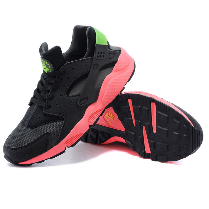 фото front Nike Huarache 318429 black-red-green front