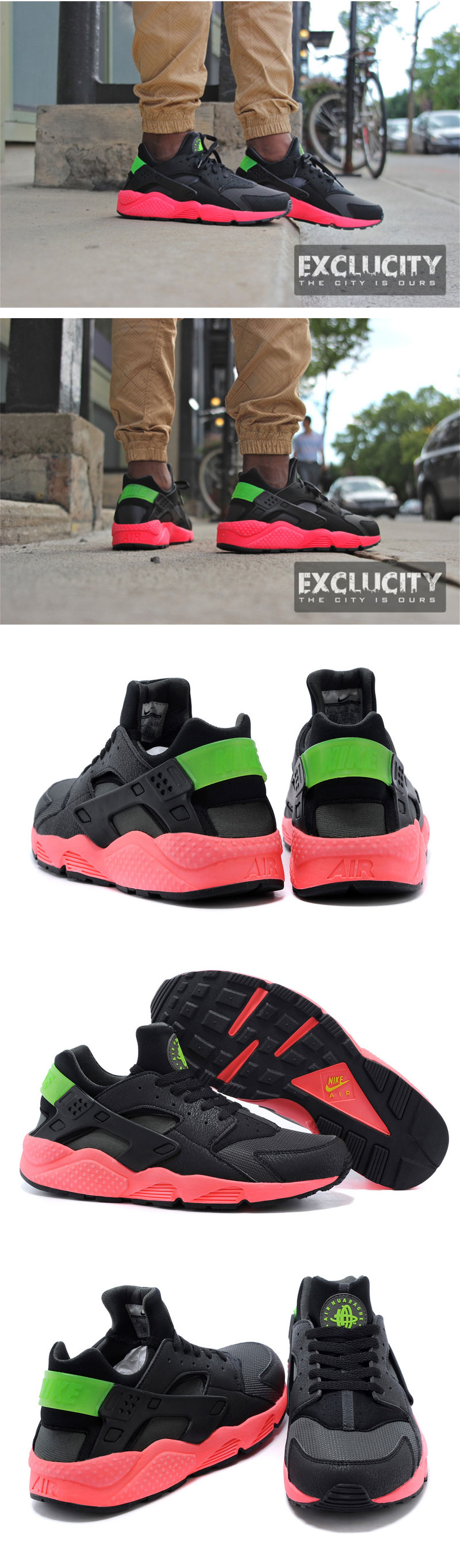 большое фото №6 Nike Huarache 318429 black-red-green