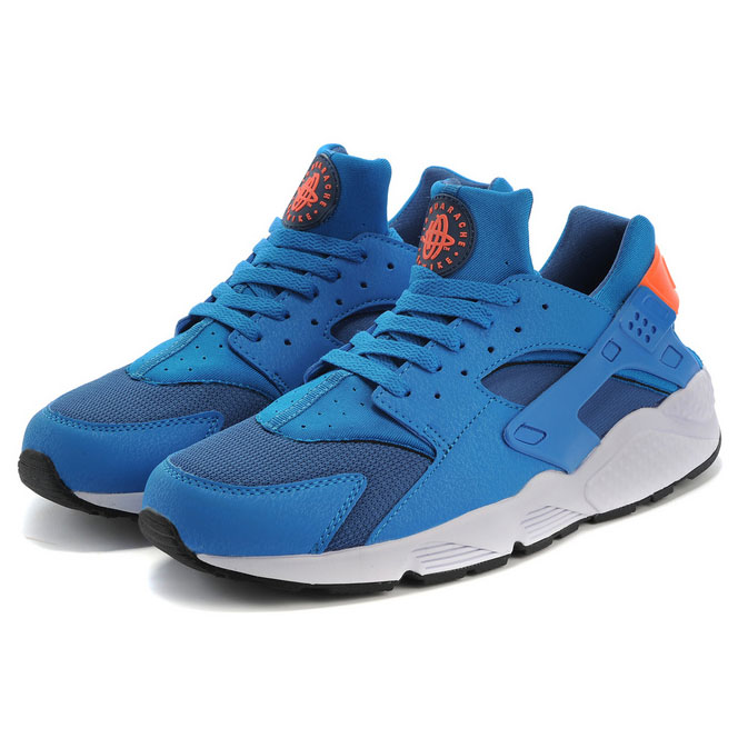 фото front Nike Huarache 318429 blue front