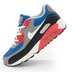 Мужские кроссовки Nike Air Max 90 синие с красным