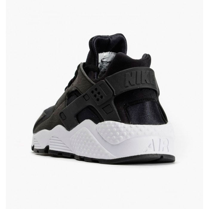 фото bottom Nike Huarache 318429 black-black-white bottom