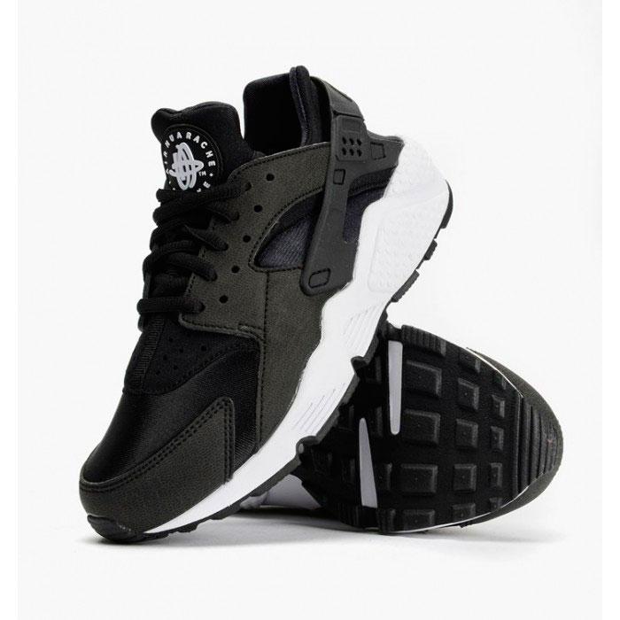 фото front Nike Huarache 318429 black-black-white front