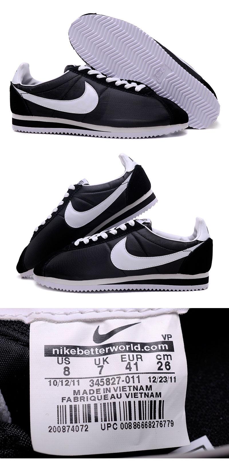 большое фото №6 Nike Classic Cortez Nylon 09 черные. Топ качество!