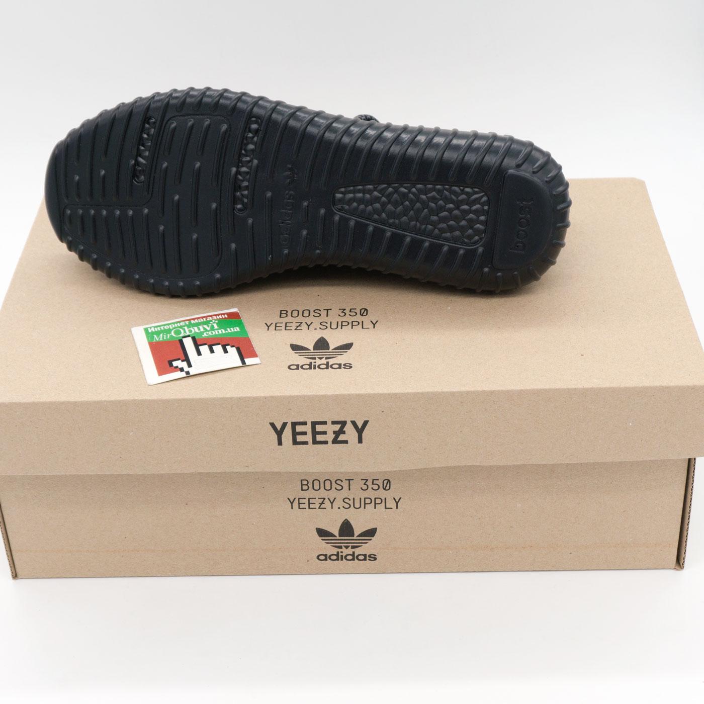 фото front Кроссовки Adidas Kanye West Yeezy 350 черные front
