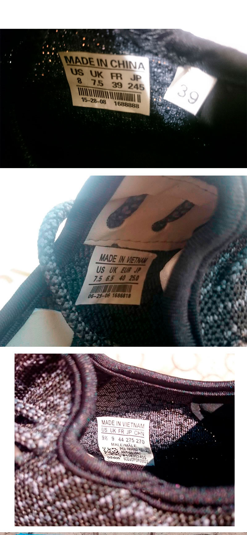 большое фото №6 Кроссовки Adidas Kanye West Yeezy 350 черные