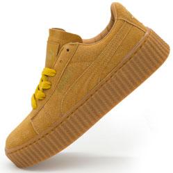 Женские кеды Puma Rihanna желтые