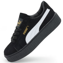 puma rihanna creepers black white