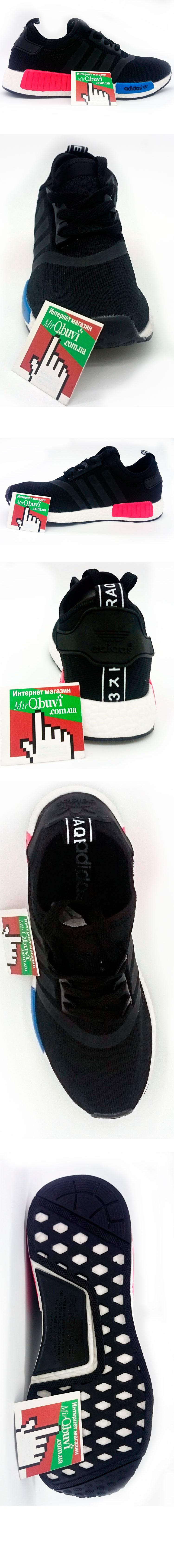 большое фото №5 Кроссовки Adidas boost NMD черные