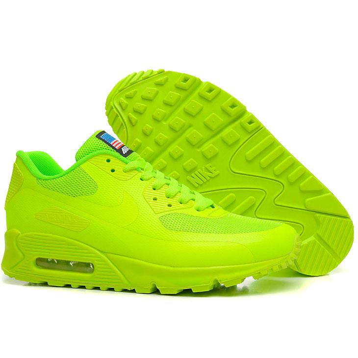 фото back Женские кроссовки Nike Air Max 90 салатовые Топ качество! back