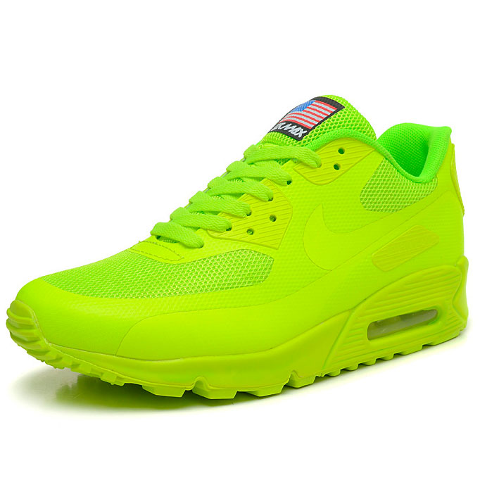 фото front Женские кроссовки Nike Air Max 90 салатовые Топ качество! front