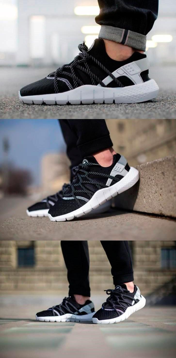 большое фото №6 Nike Huarache NM черно-белые. Топ качество!