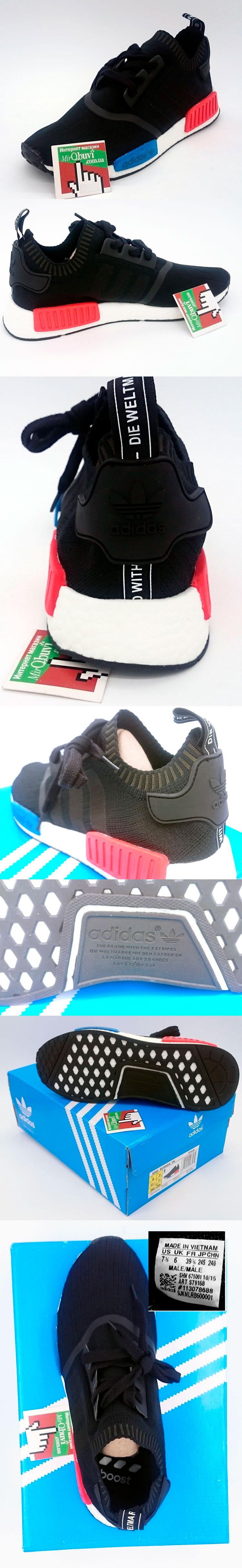 большое фото №5 Кроссовки Adidas boost NMD черные - Топ качество