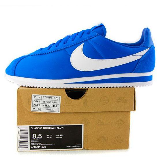 фото back Кроссовки Nike Classic Cortez Nylon 09 Синие. Топ качество! back