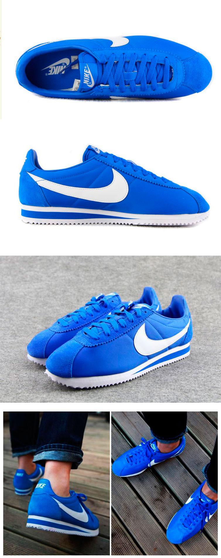 большое фото №6 Кроссовки Nike Classic Cortez Nylon 09 Синие. Топ качество!