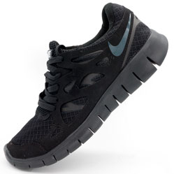 Кроссовки для бега Nike Free Run 2 Найк Фри Ран, полностью черные
