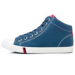 Мужские синие кожаные кеды RenBen 7181-3