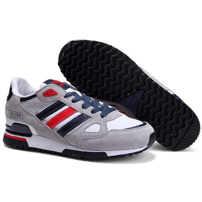 фото bottom Adidas zx750 серые с синим - Топ качество bottom