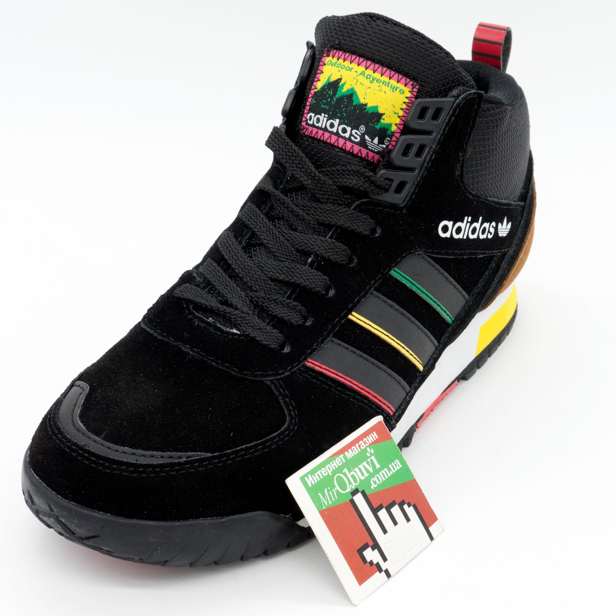фото back Зимние кроссовки Adidas ZX TR MID черные - Топ качество back