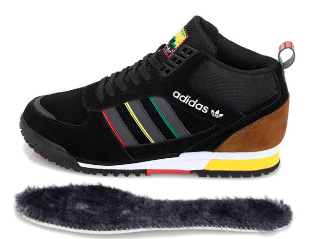 большое фото №5 Зимние кроссовки Adidas ZX TR MID черные - Топ качество