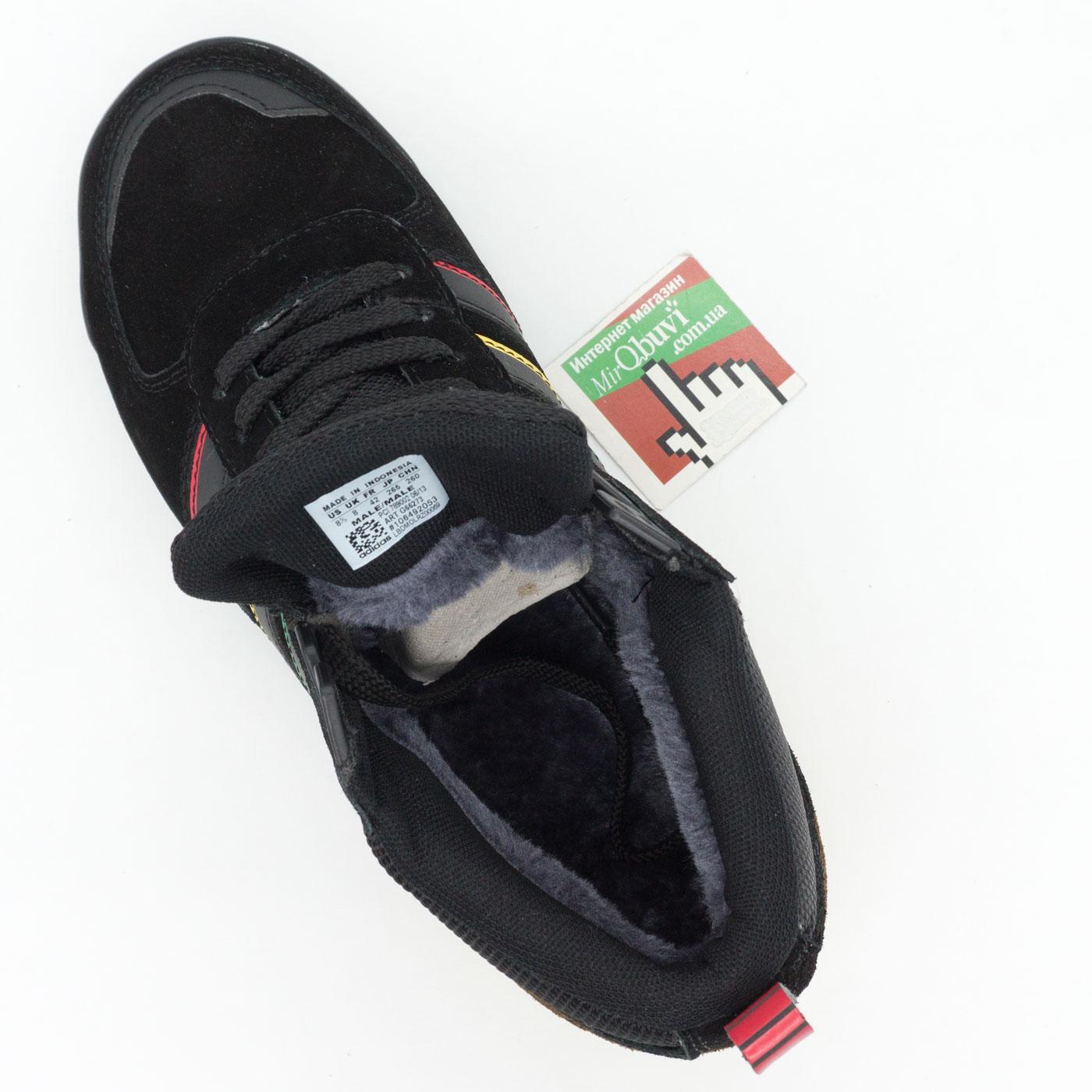 большое фото №6 Зимние кроссовки Adidas ZX TR MID черные - Топ качество