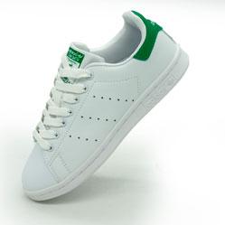 Женские кроссовки Adidas Stan Smith бело зеленые