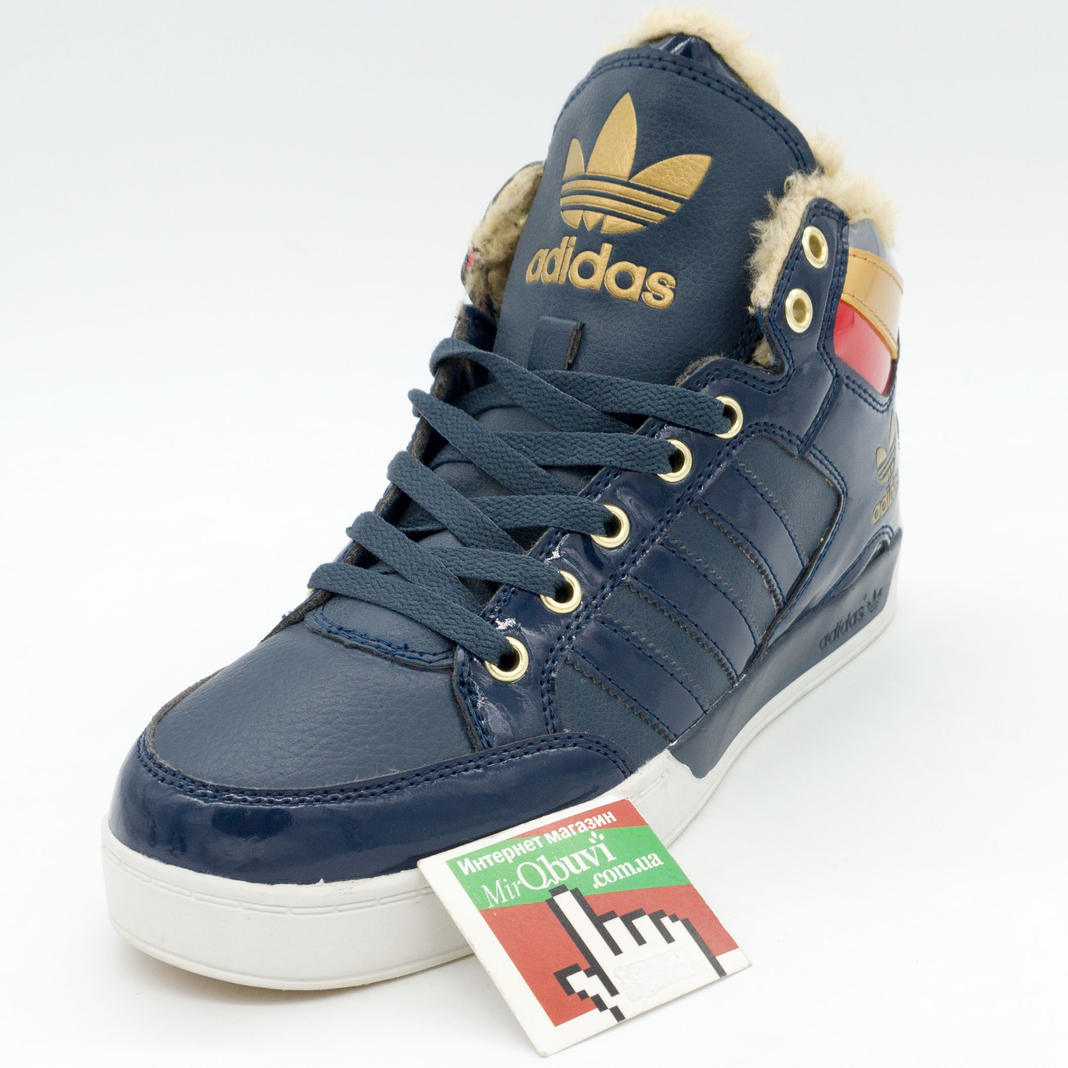 фото front Зимние кроссовки Adidas G21398 синие front