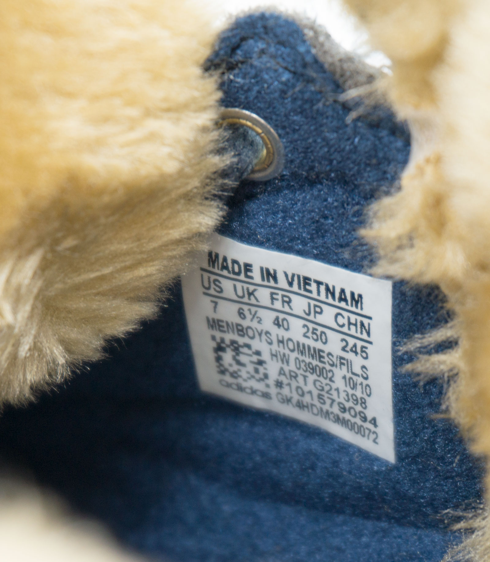 большое фото №6 Зимние кроссовки Adidas G21398 синие