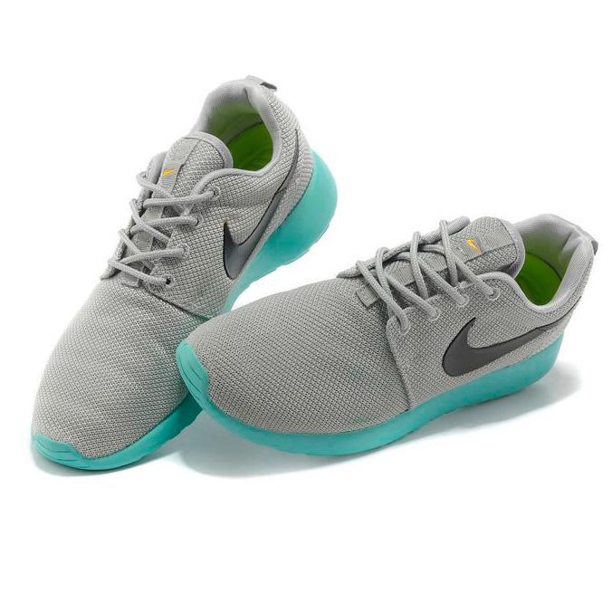 фото back Женские кроссовки Nike Roshe Run серо берюзовые. Топ качество!!! back