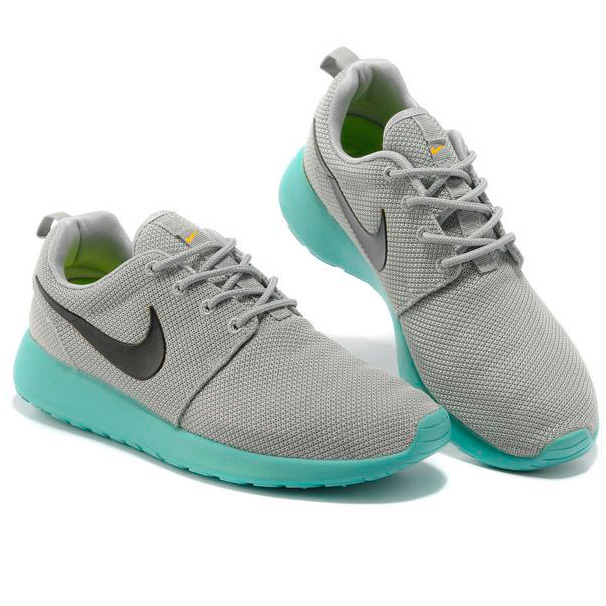 фото bottom Женские кроссовки Nike Roshe Run серо берюзовые. Топ качество!!! bottom