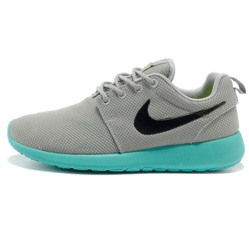 Женские кроссовки Nike Roshe Run серо берюзовые. Топ качество!!!