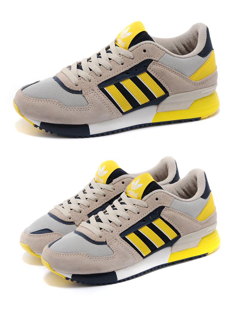 большое фото №6 Adidas zx630 серые с желтым - Топ качество