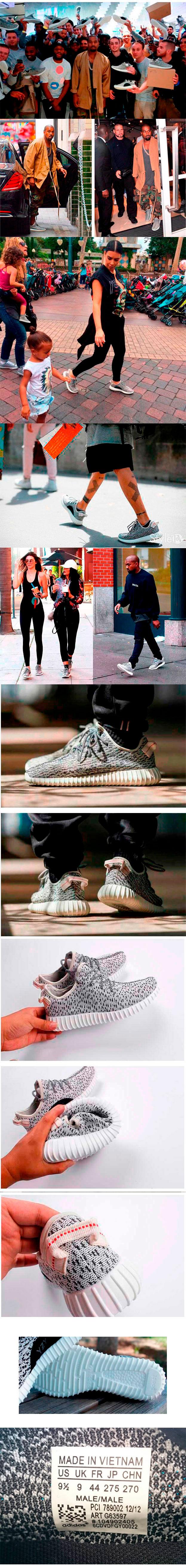 большое фото №6 Кроссовки Adidas Kanye West Yeezy 350 белые