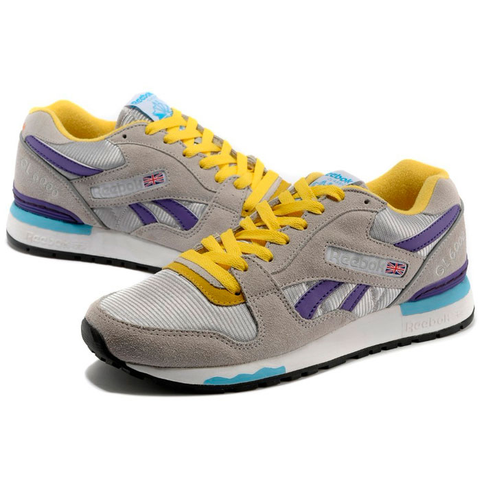 фото back Женские кроссовки Reebok GL6000 V53094 GRAY/PURPLE/YELLOW back