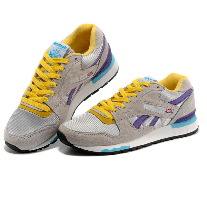 фото bottom Женские кроссовки Reebok GL6000 V53094 GRAY/PURPLE/YELLOW bottom