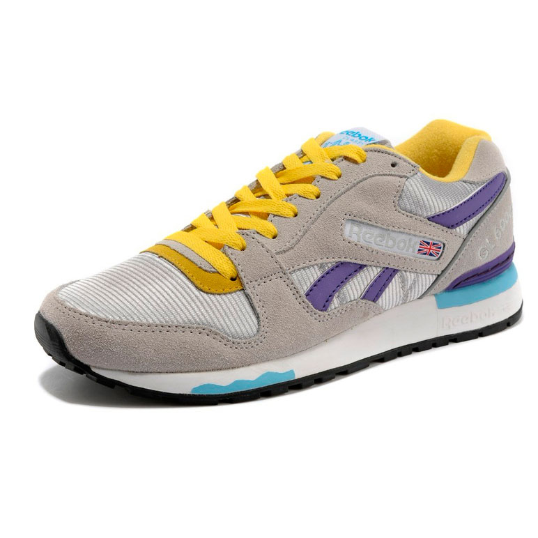 фото front Женские кроссовки Reebok GL6000 V53094 GRAY/PURPLE/YELLOW front
