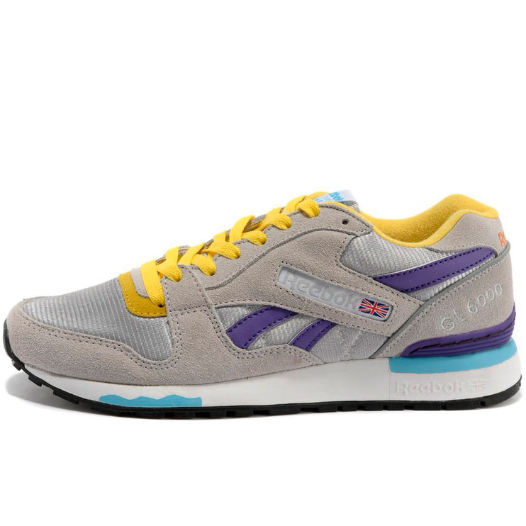фото main Женские кроссовки Reebok GL6000 V53094 GRAY/PURPLE/YELLOW main
