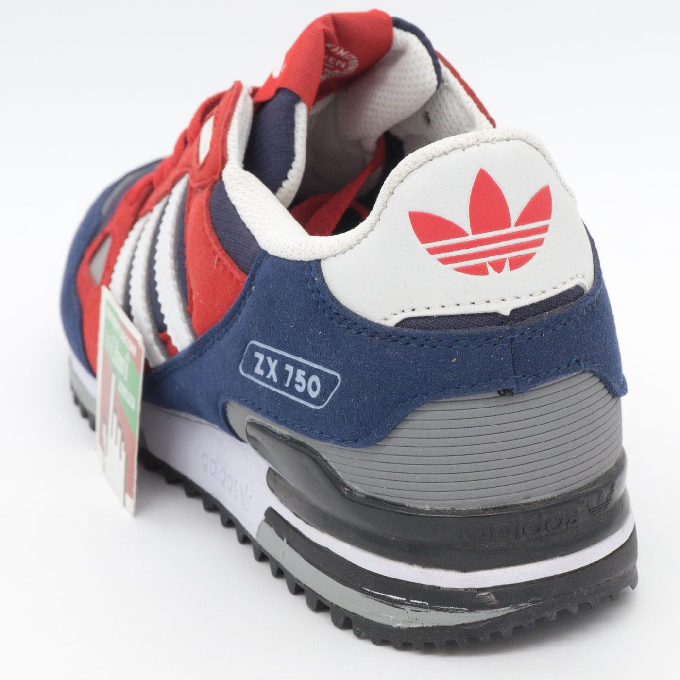 фото back Мужские кроссовки Adidas zx750 синие с красным - Топ качество! back