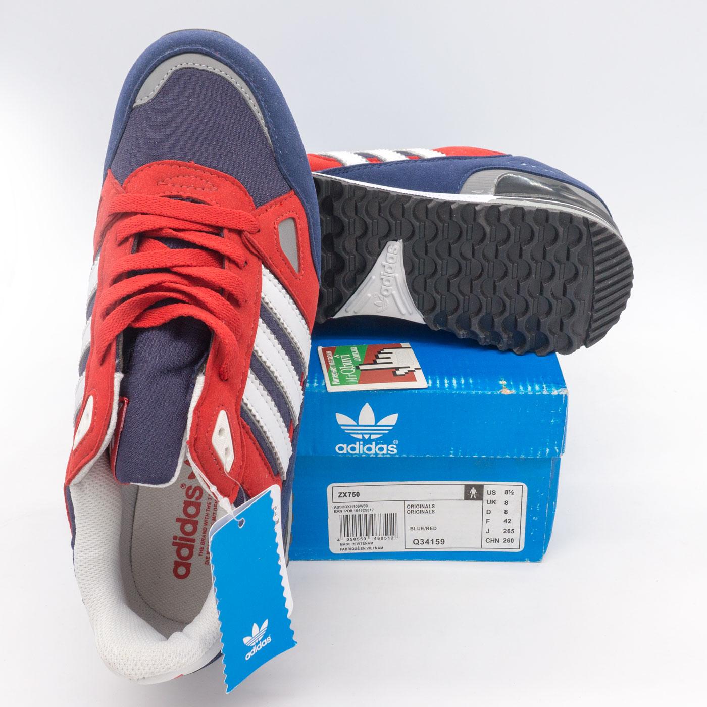 фото bottom Мужские кроссовки Adidas zx750 синие с красным - Топ качество! bottom
