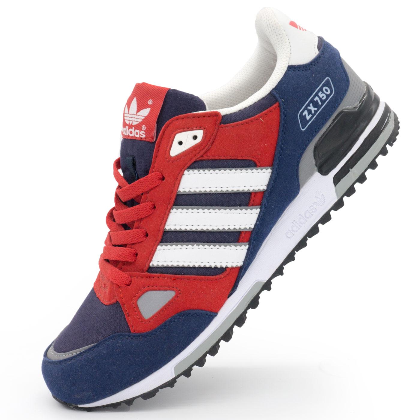 фото main Мужские кроссовки Adidas zx750 синие с красным - Топ качество! main