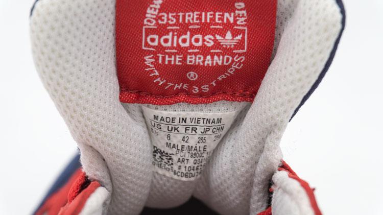 большое фото №6 Мужские кроссовки Adidas zx750 синие с красным - Топ качество!
